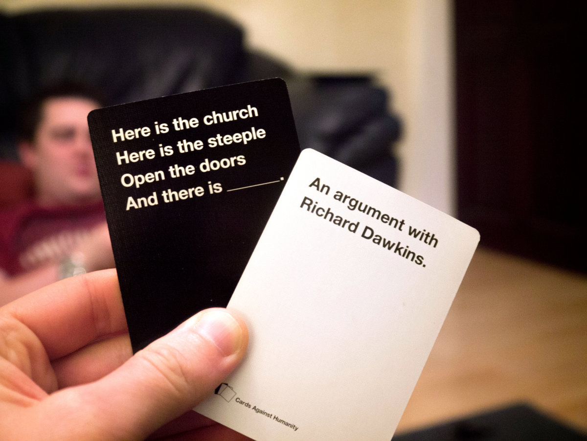 Billed as the party game for horrible people, Cards Against Humanity sprang from a 2011 Kickstarter campaign.  Its content is awful, politically incorrect, and popular.