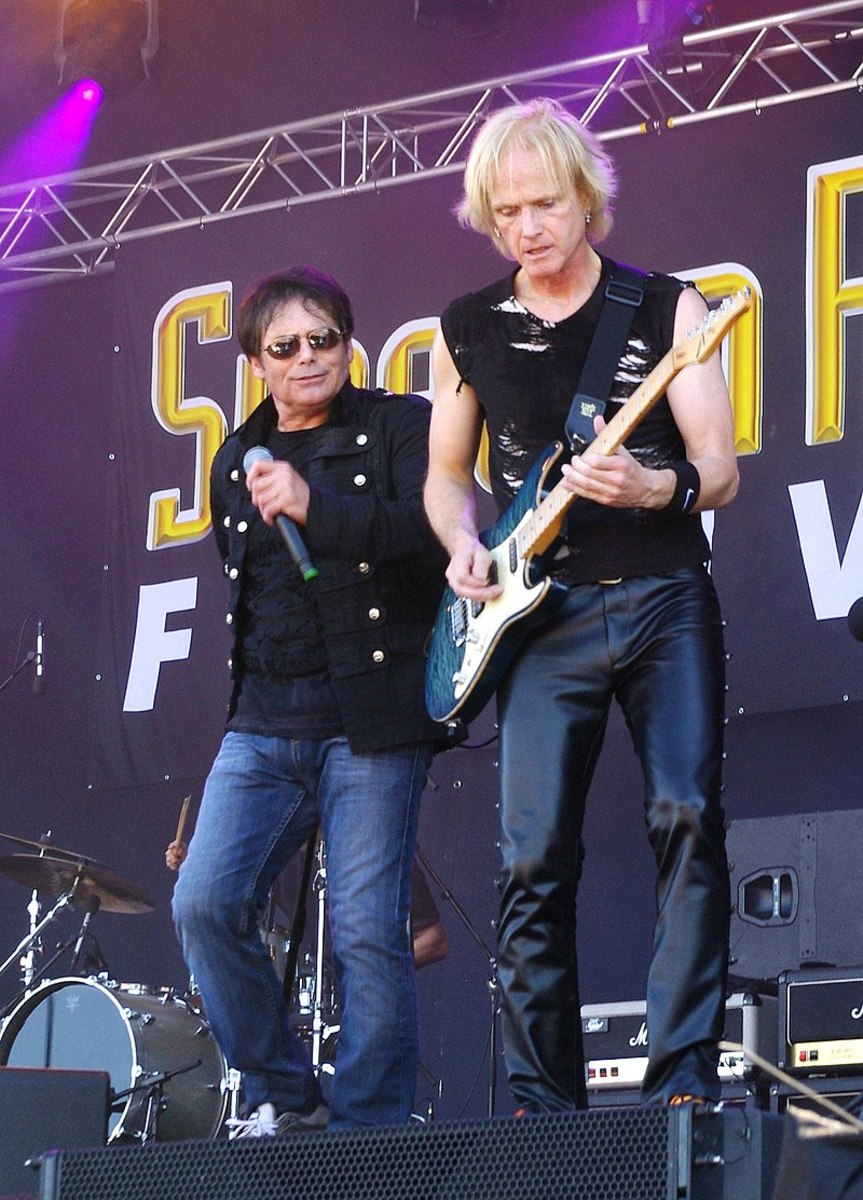 Jimi Jamison and Frankie Sullivan at the Sweden Rock Festival in 2013
