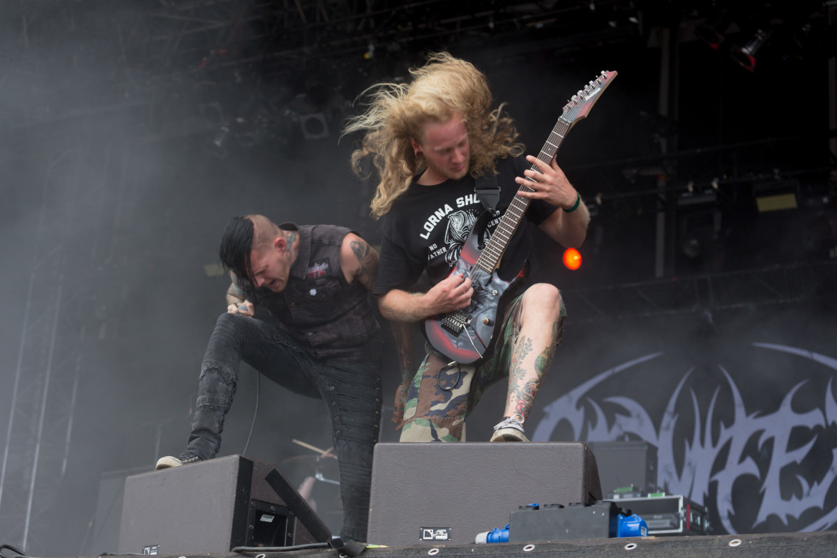 Deathcore musicians often have long hair.
