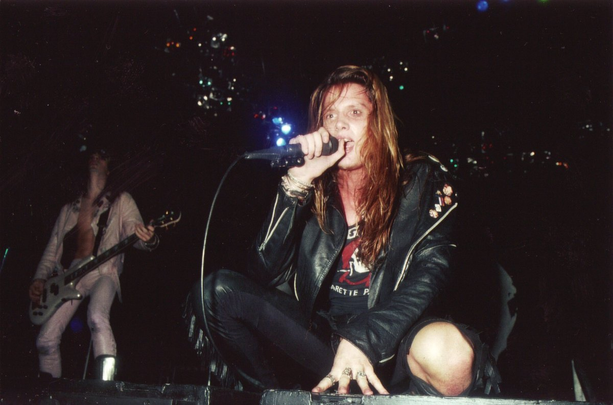 Leather was a huge part of heavy metal fashion.