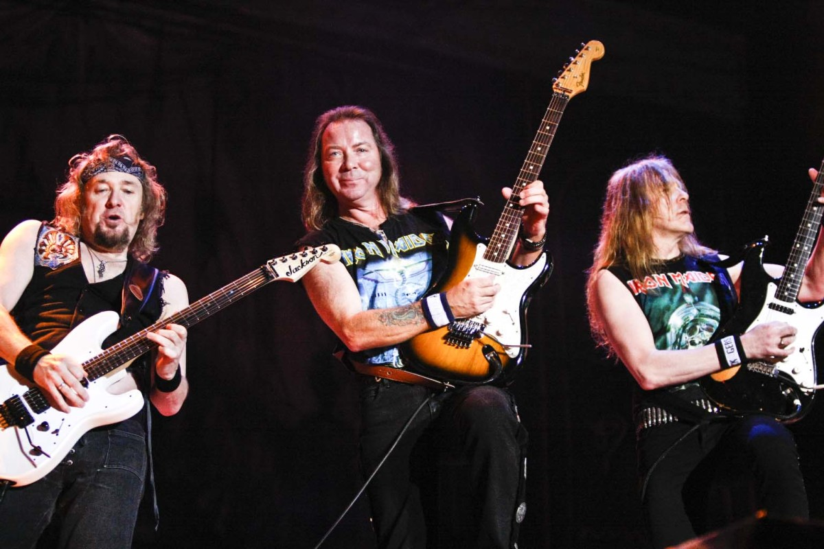 Iron Maiden playing live