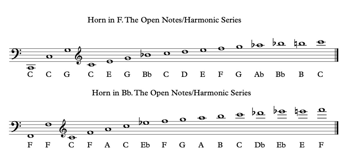 The Open Notes on a French Horn