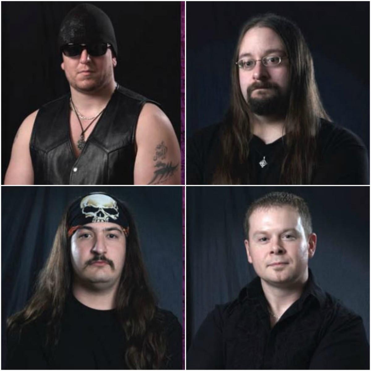 Top L-R: Joel Wood (vocals), Chuck Donahue (bass) Bottom L-R: John Jesuele (drums), Mike Johnson (guitar)