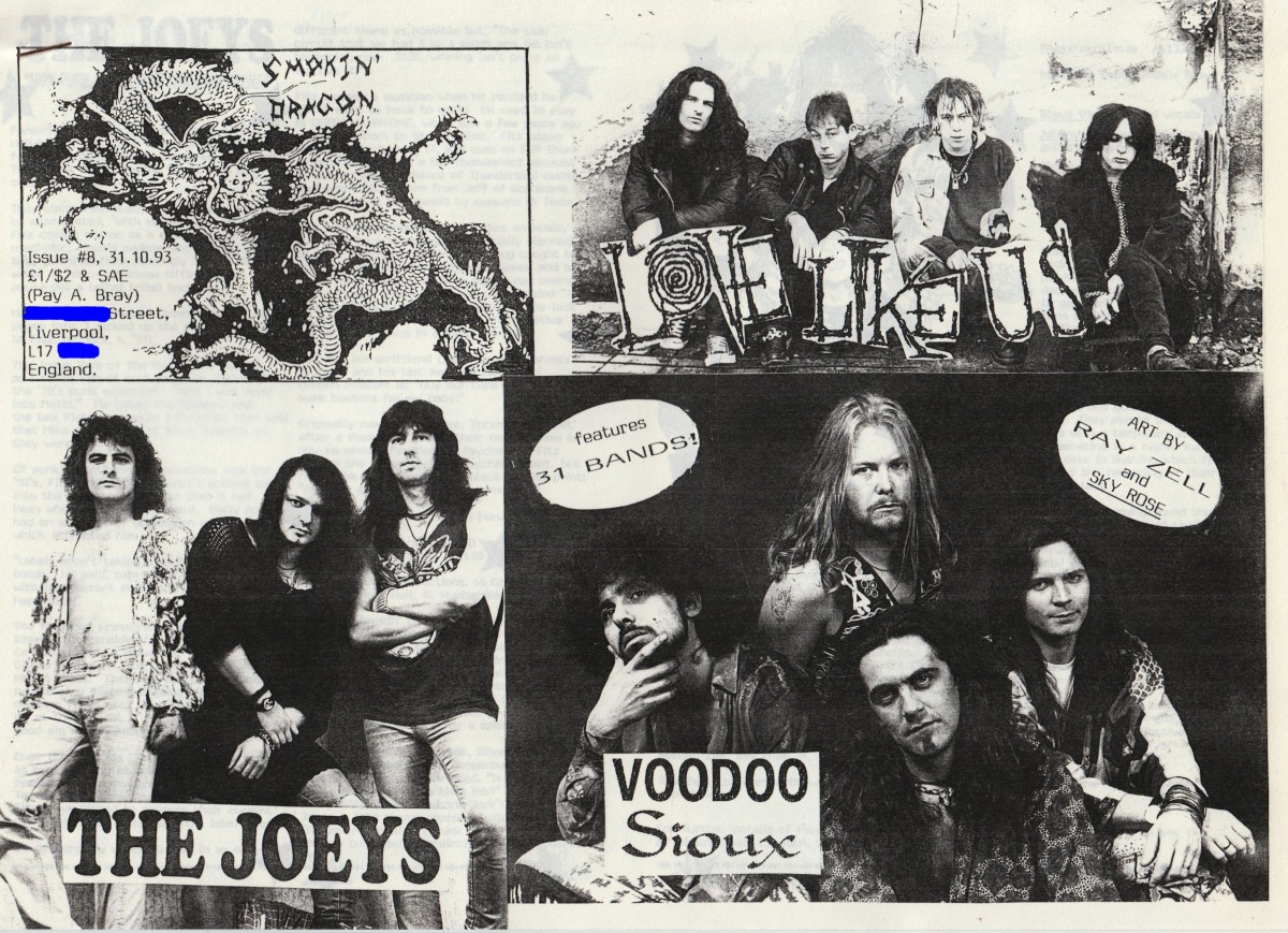 Smokin' Dragon #8 featured 31 rock bands!