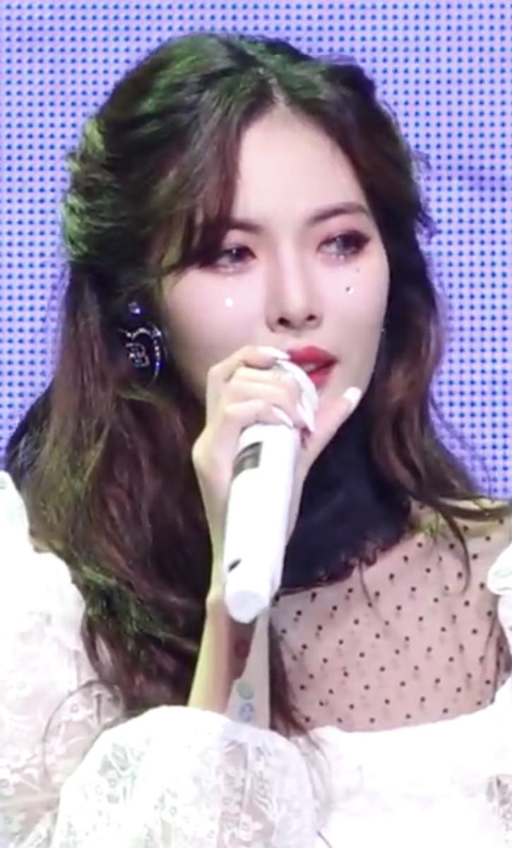 Hyuna at a showcase