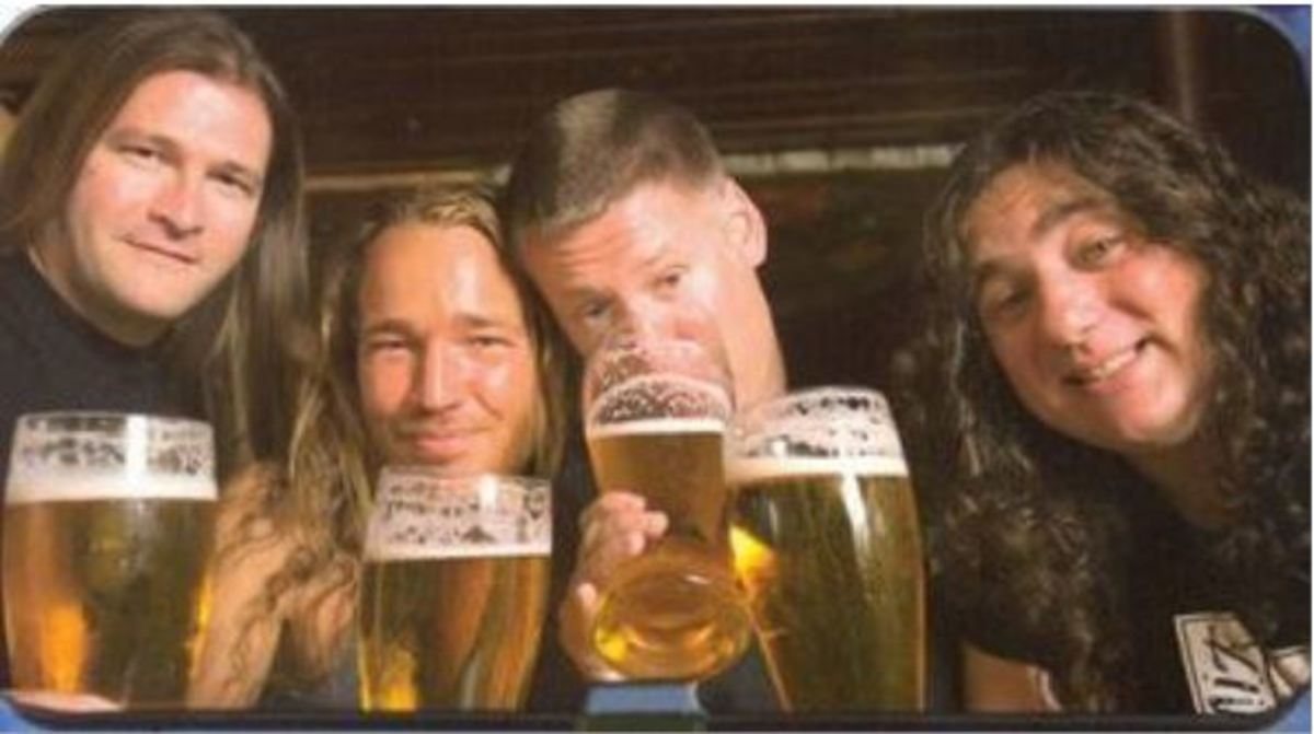The members of Tankard remind you to drink responsibly!