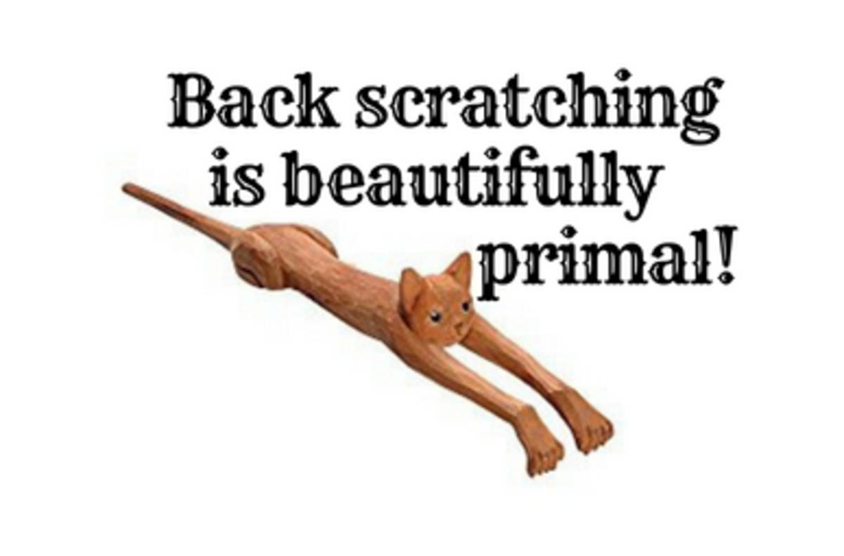 Funny Basswood Cat Back Scratcher