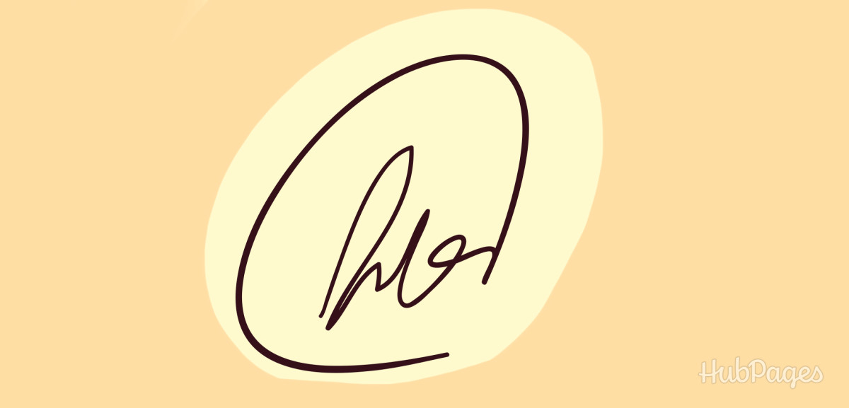 Signature with a backward loop