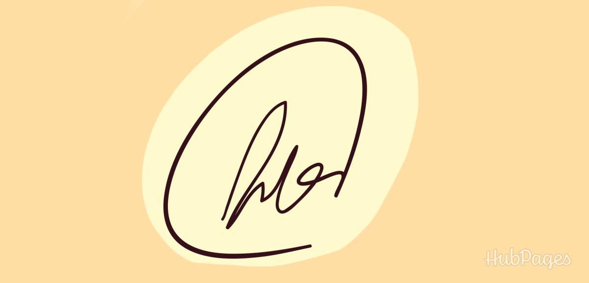 Signature with a backward loop