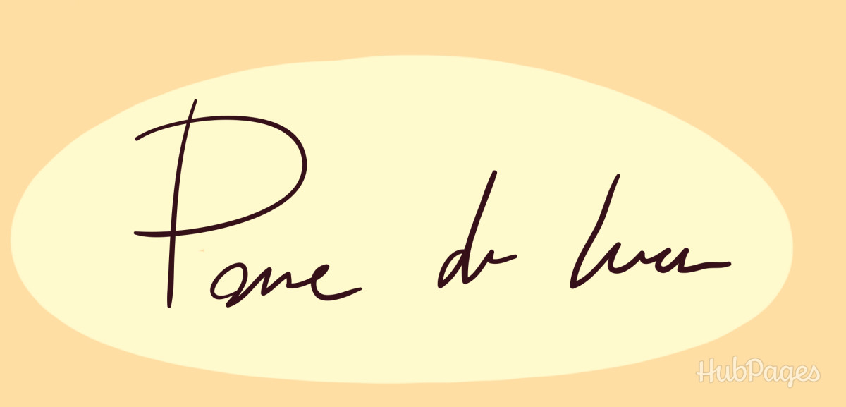 Signature with underline and two dots