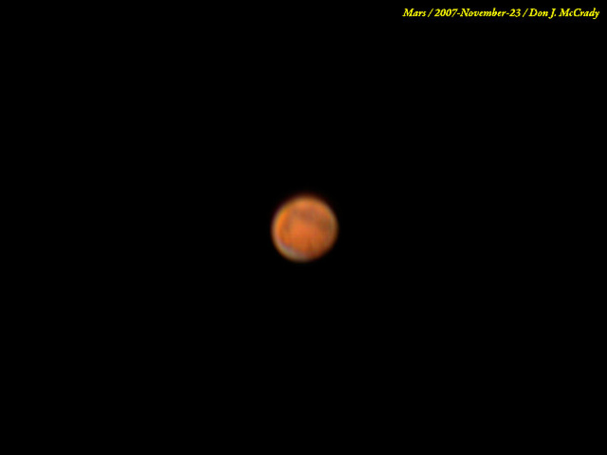 Thanks to Don McCrady for use of this image. It is a picture of the planet, Mars.