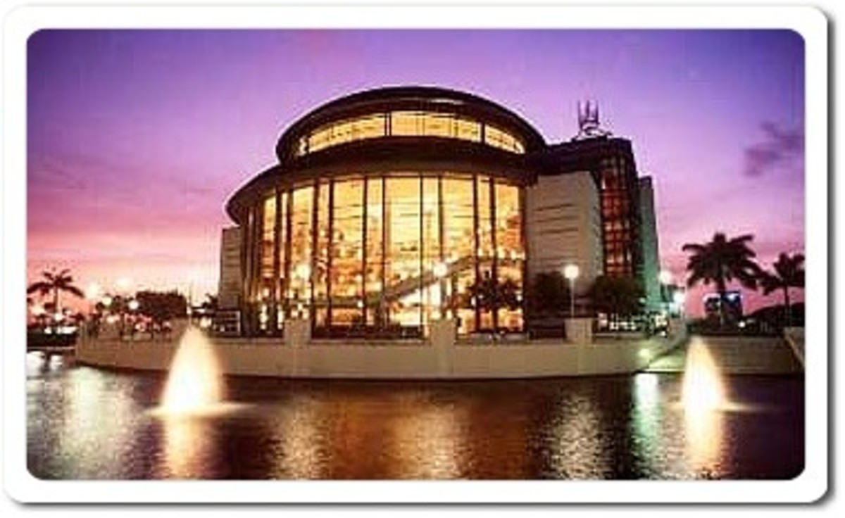 Kravis Center - on the outskirts of City Place in West Palm Beach