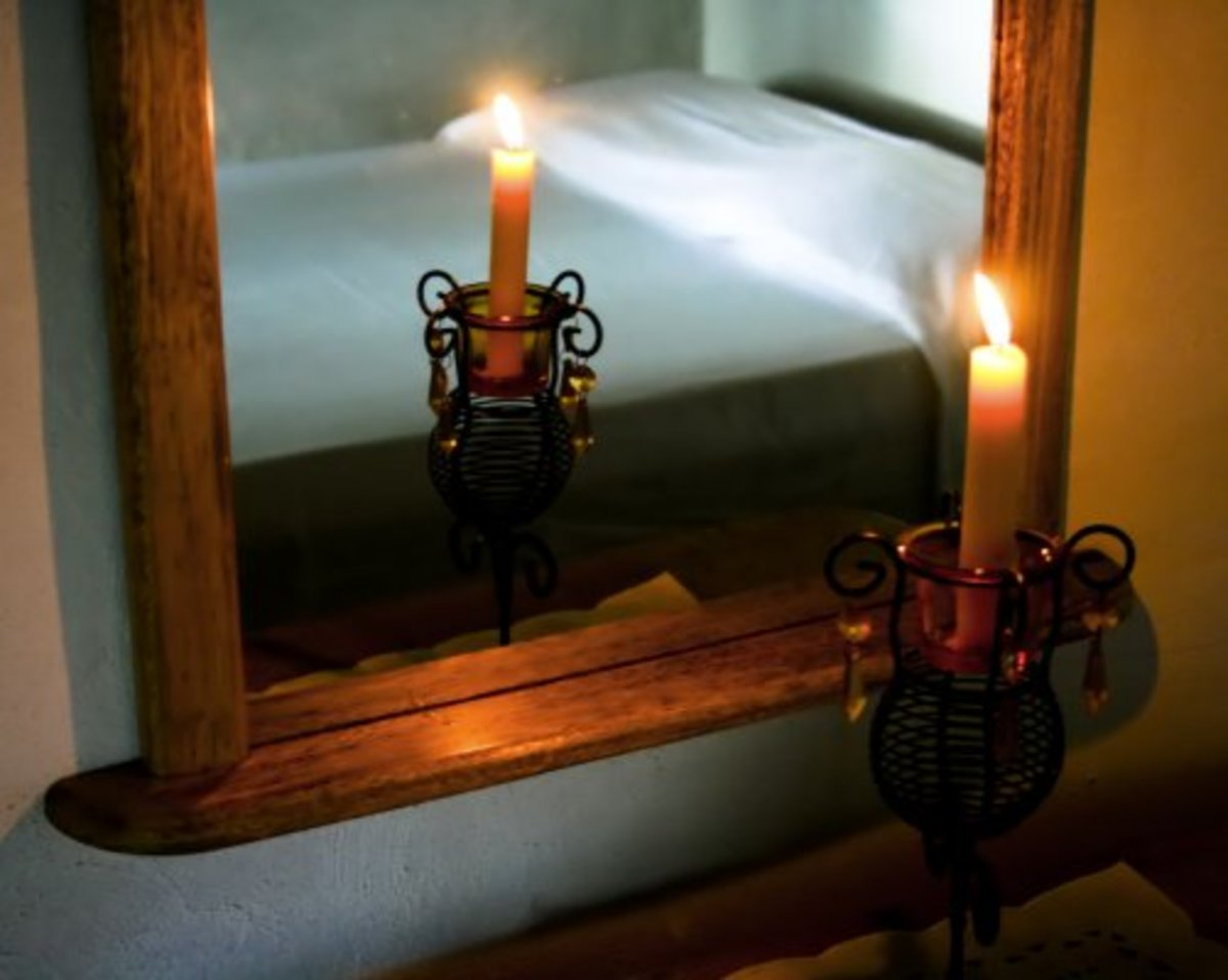 Even something as simple as a candle can change take a bedroom from dull and boring to exotic and spicy!