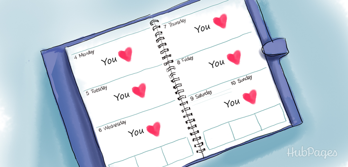 A woman in love will want to fill her calendar with just one thing: you!