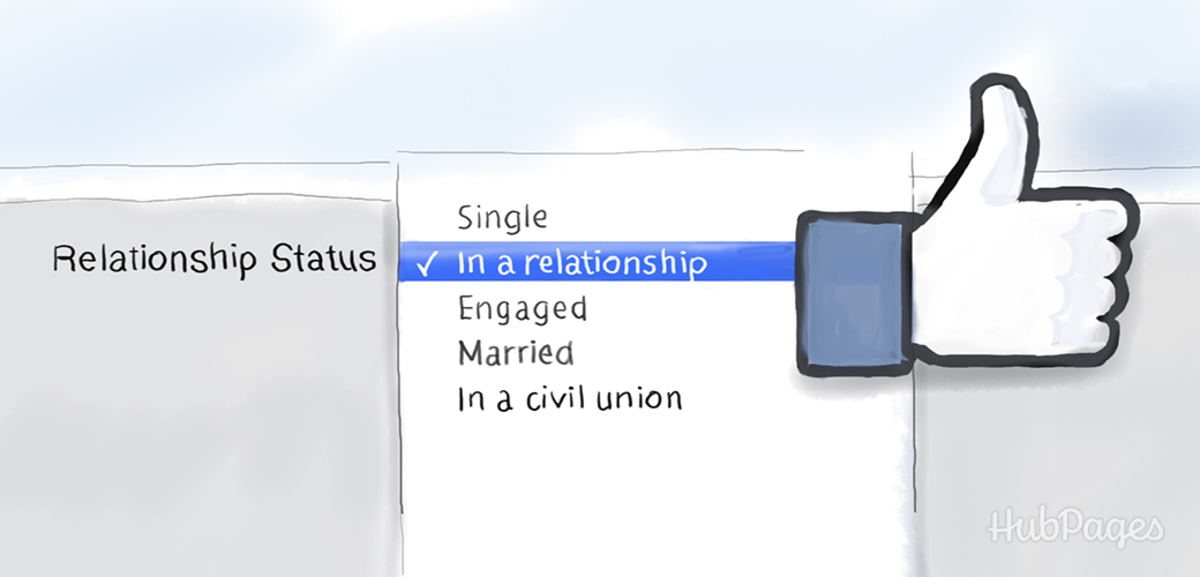 She may want to go public with your love by changing her relationship status on Facebook.