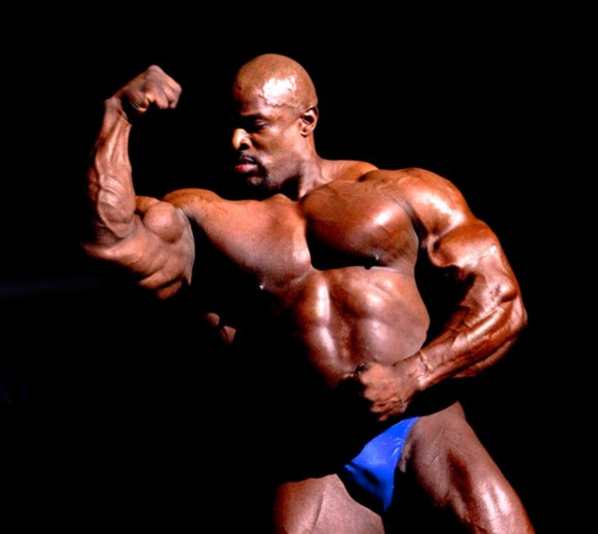 While this body may look great on a pro body builder, you may be out of place if you are a 9-5 office worker carrying around a freakishly big body. In picture is Ronnie Coleman posing at Mr. Olympia 2009 in Melbourne, Australia.
