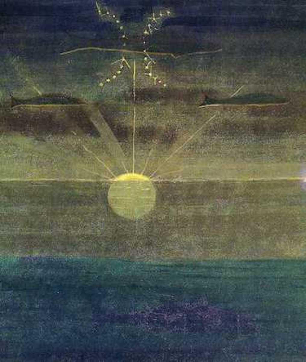 Žuvys (Pisces) by Mikalojus Konstantinas Čiurlionis.