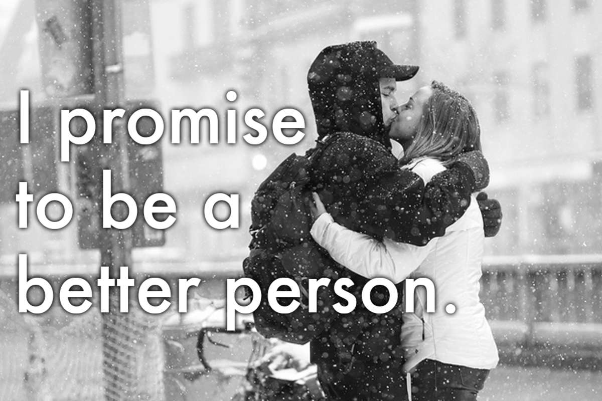 Way to say you're sorry: 'I promise to be a better person.'