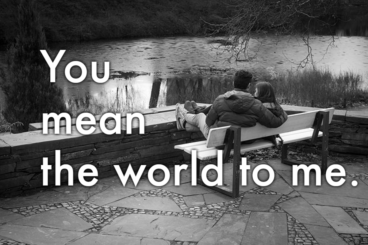 Words of apology: 'You mean the world to me.'