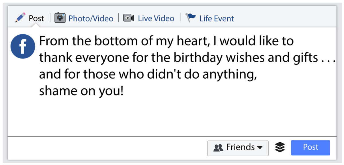 thank you messages for birthday greetings on facebook