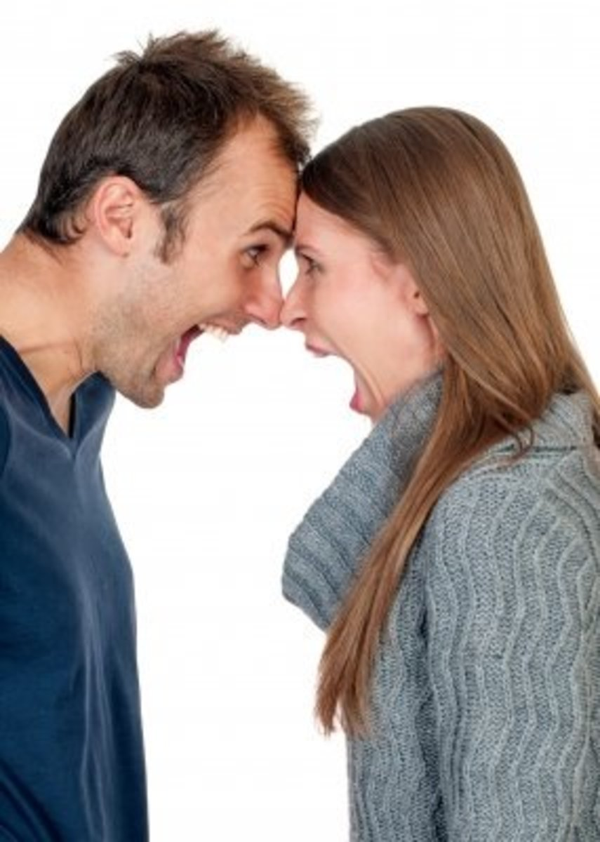 Don't pick up an argument when she is having her mood swings.
