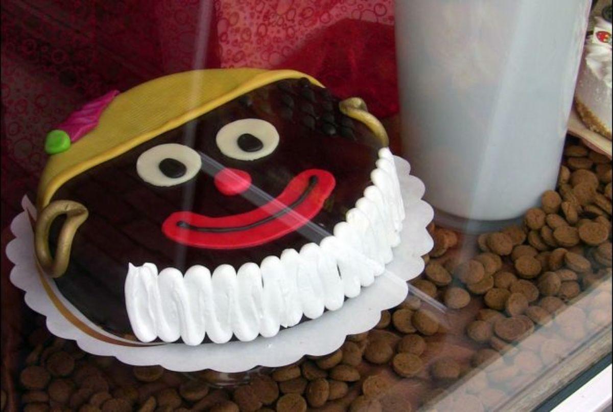 Mmmm, tar-faced cake.