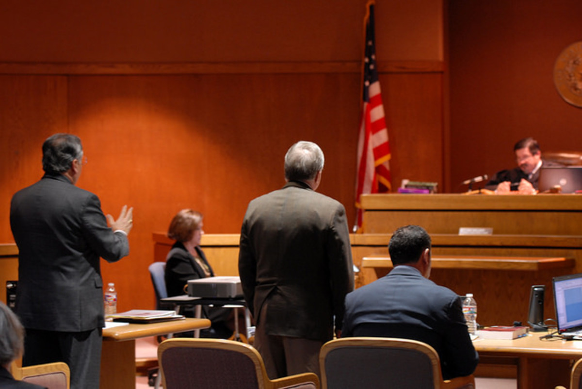 Be sure stand up when addressing the judge.