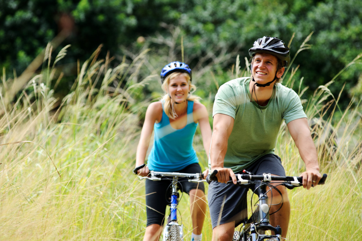 I love bike-rides with my hubby!