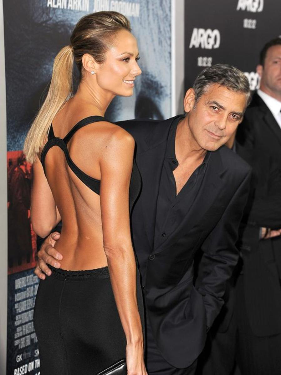 Hollywood's unsuccessful love story: George Clooney with his younger girlfriend Stacy Keilber.