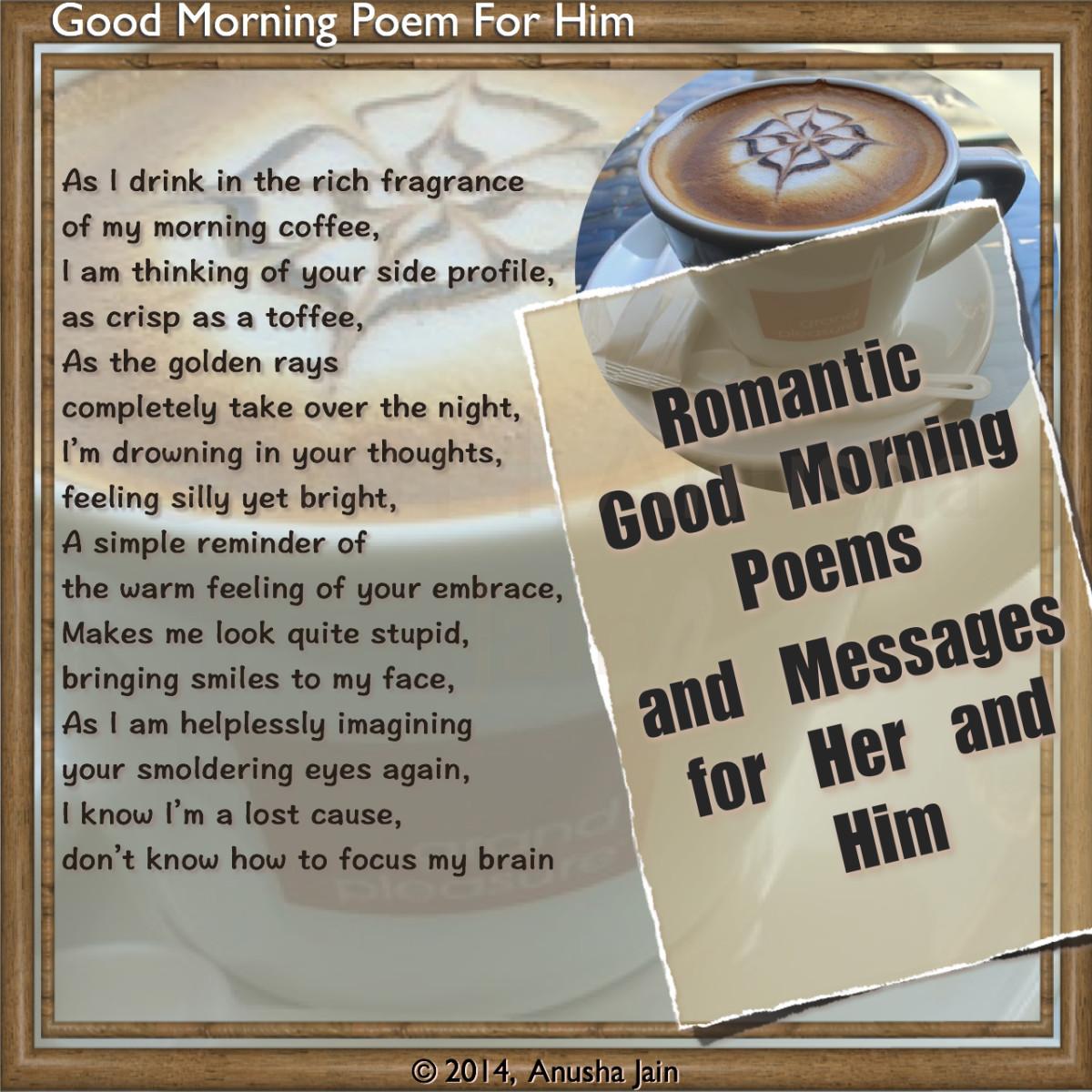 Good Morning Poems For Him Good morning - romantic poem