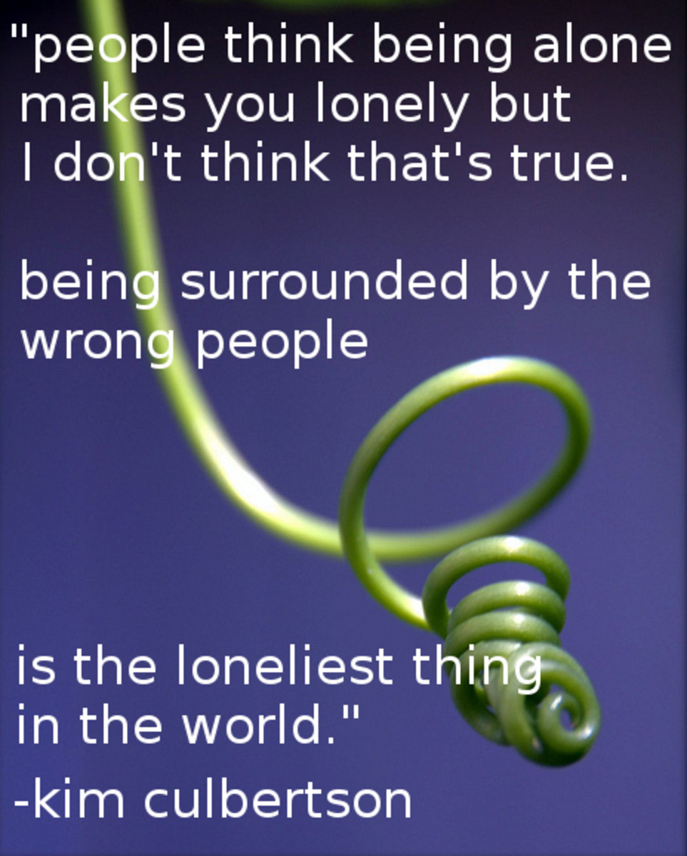 """Being surrounded by the wrong people is the loneliest thing in the world."""