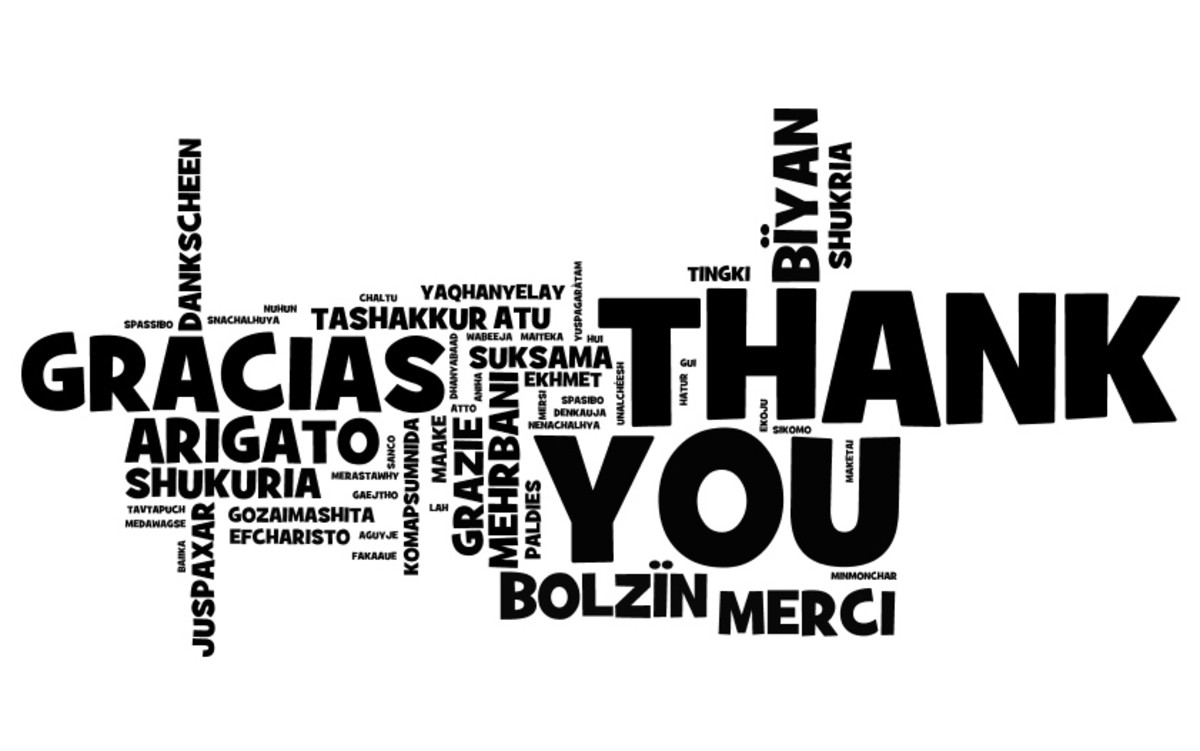 Expression of thanks
