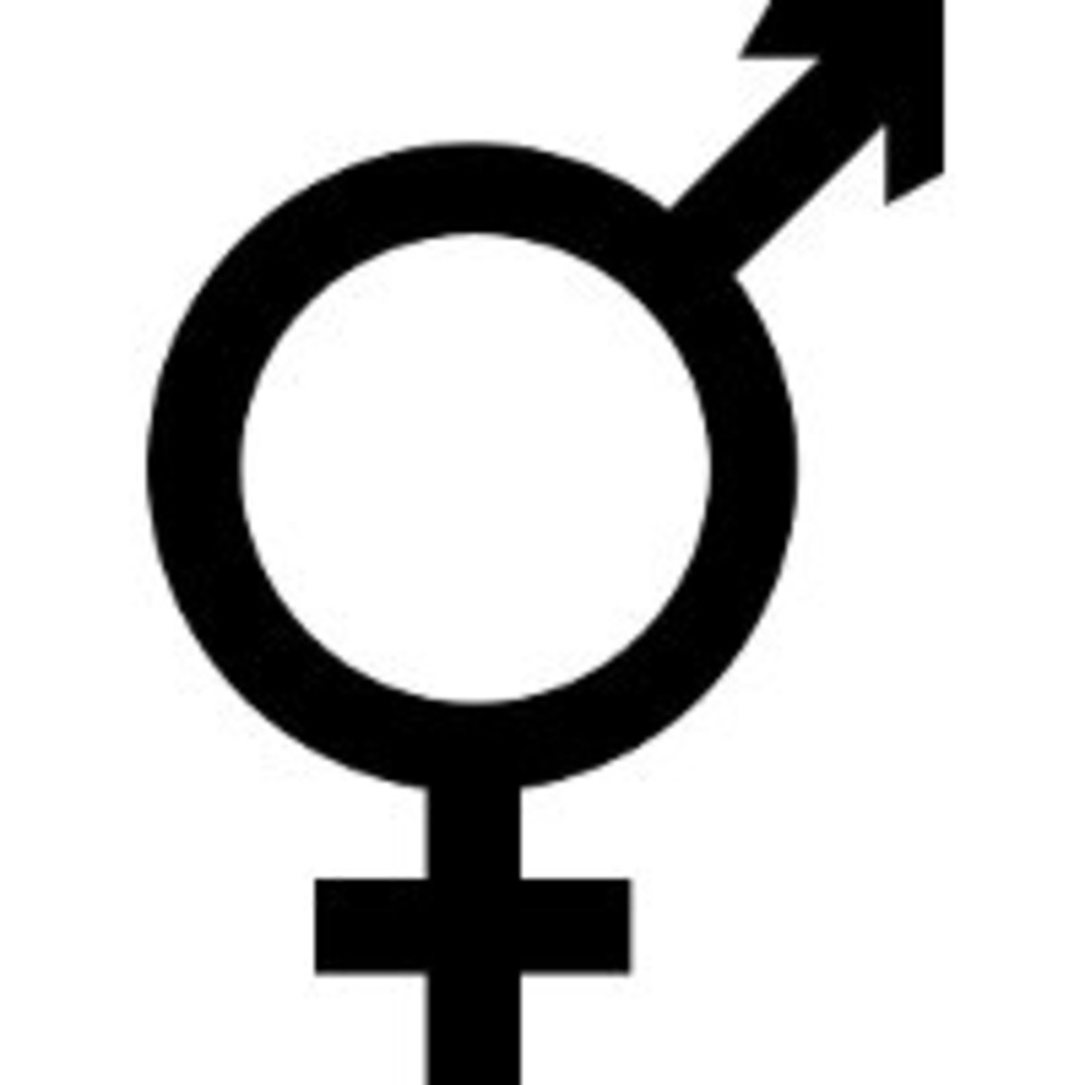 One variant of the intersex symbol