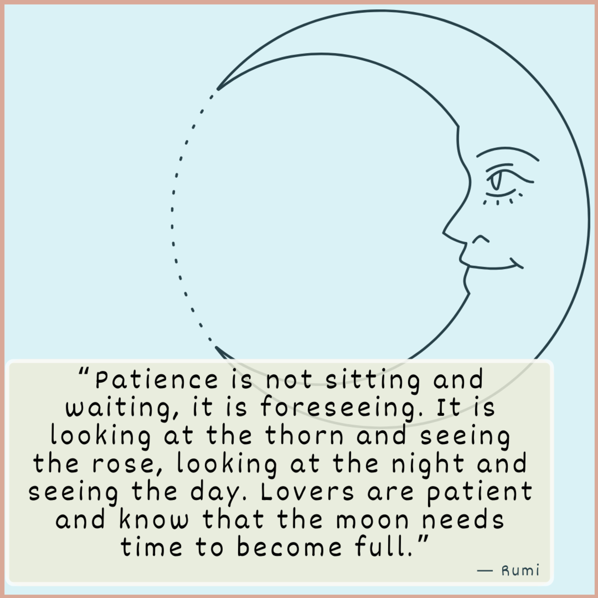 Patience is key in any relationship.