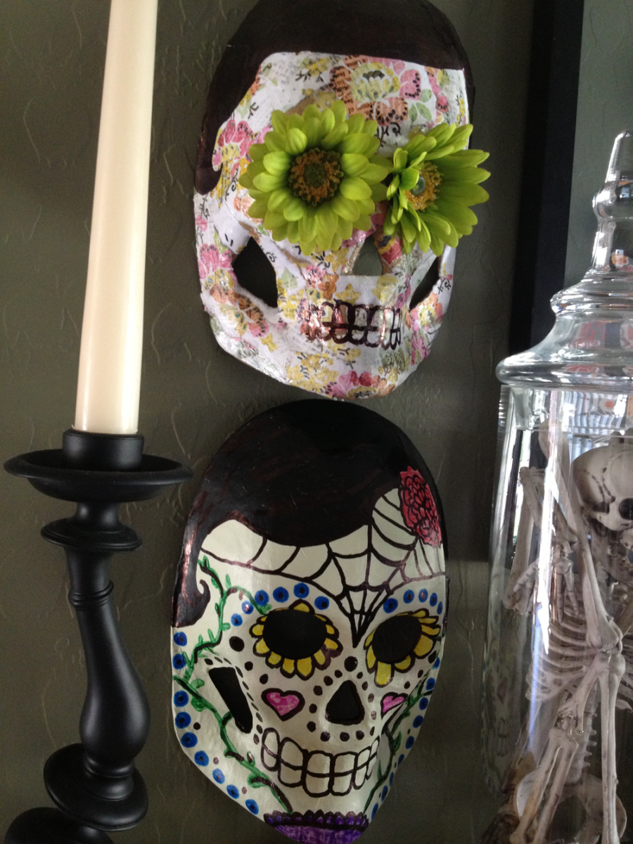 Hand Crafted Day of the Dead Skull Masks