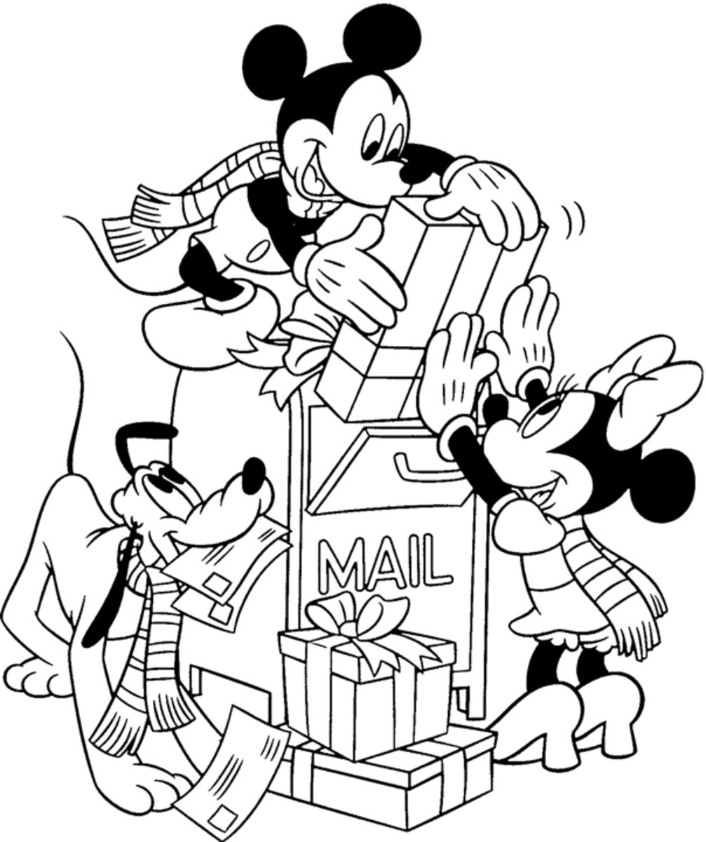 Mickey, Minnie and Pluto Christmas Printable