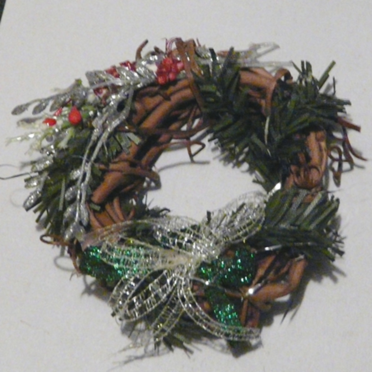 Mini Wreath Ornament with greenery