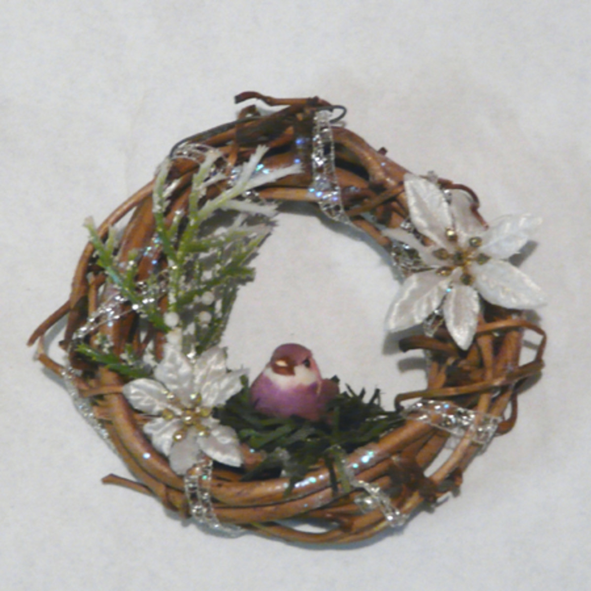 Mini Wreath Ornament with bird