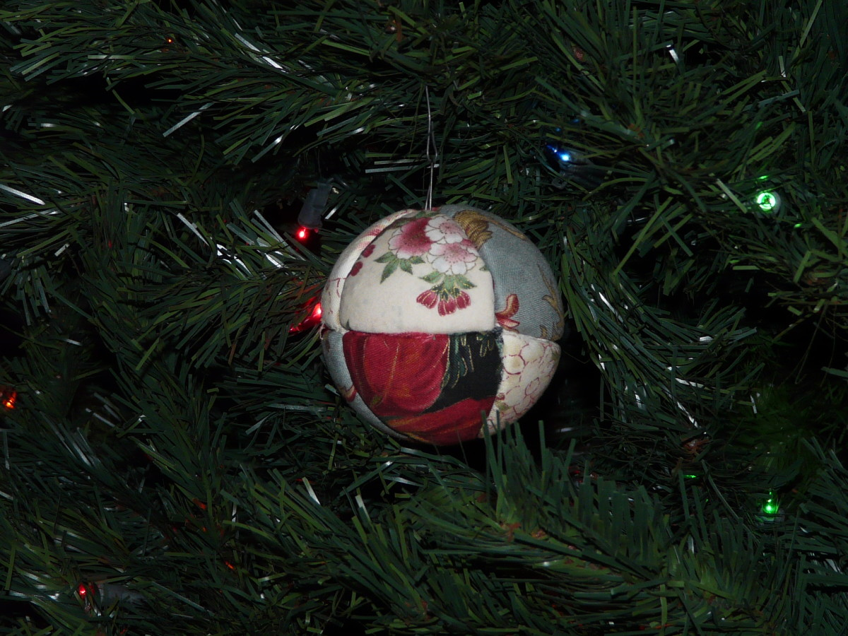 Quilted Ball Christmas Ornament