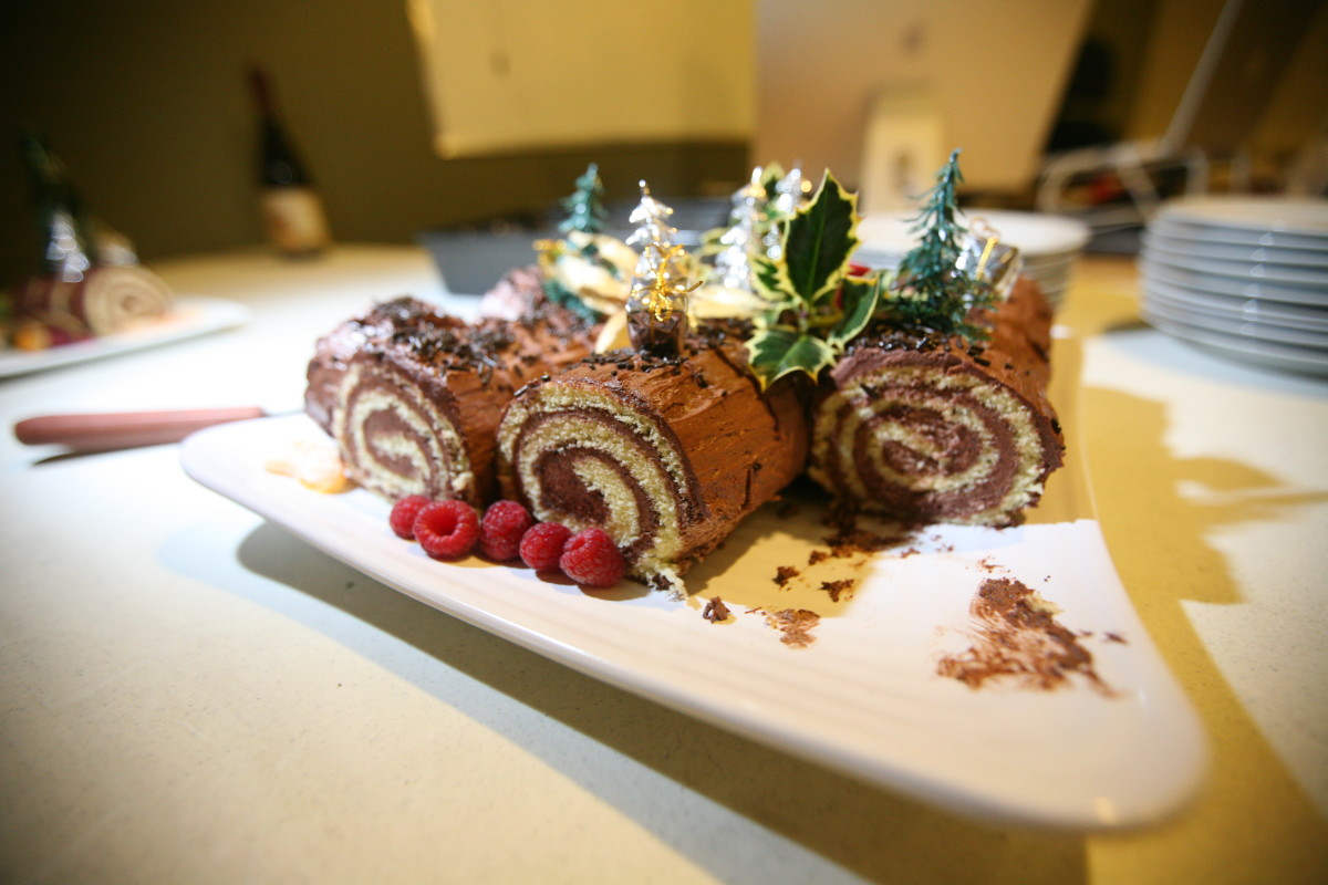 The yule log is a classic Christmas treat in Scotland.