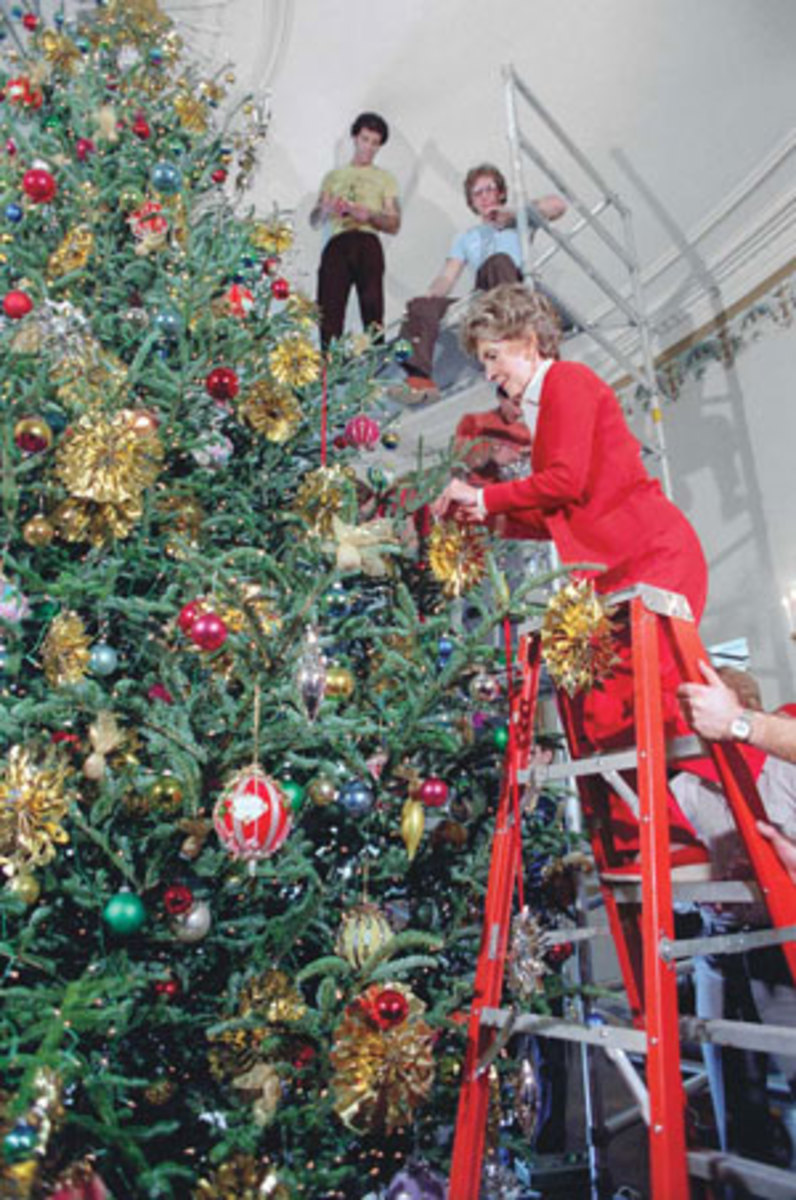Nancy Reagan was one of the few First Ladies who played an active role in the actual tree decorating.