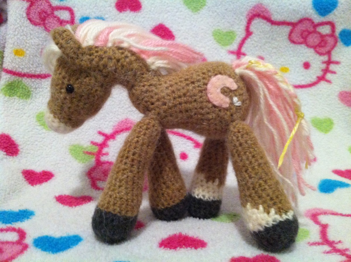 Amigurumi Pony - most of my crochet commissions have been for gifts for children or baby showers.  If your crafty, put your skills to use!