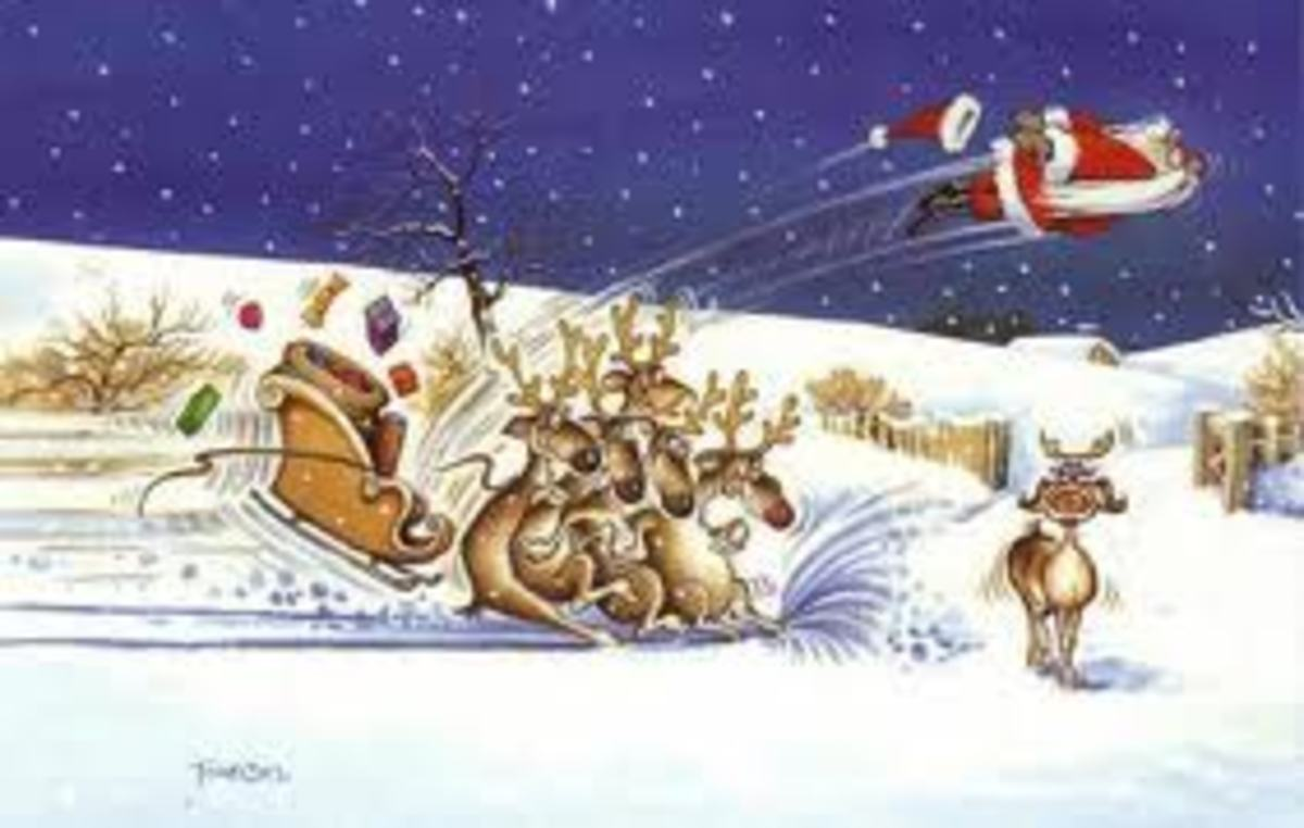 Oops! The reindeer need more training to remain focused.