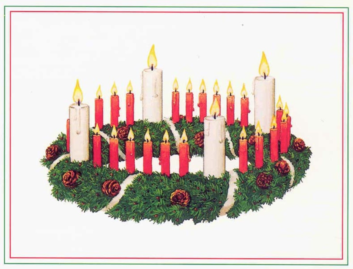 This is the first Advent wreath, designed by Pastor Wichern.