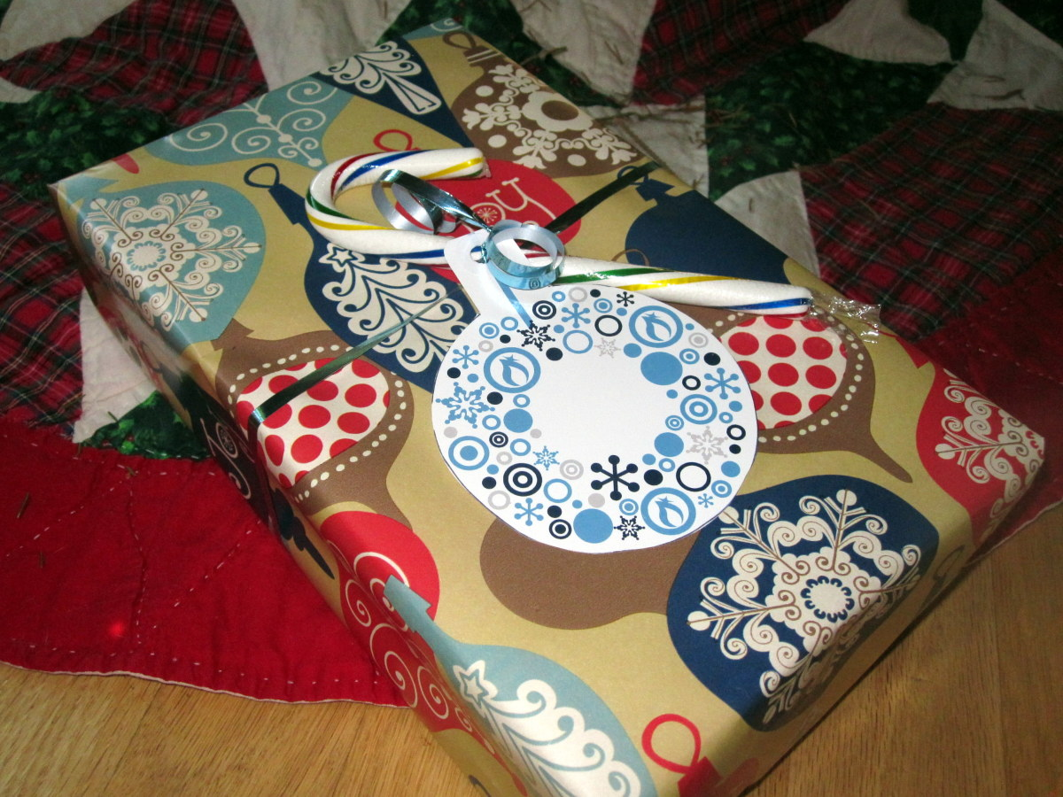 Old Christmas cards make great gift tags