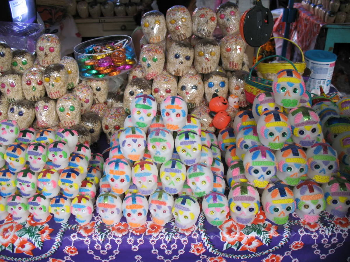 In many Latin American countries, Day of the Dead (similar to Halloween) candy comes in the form of sugar skulls.