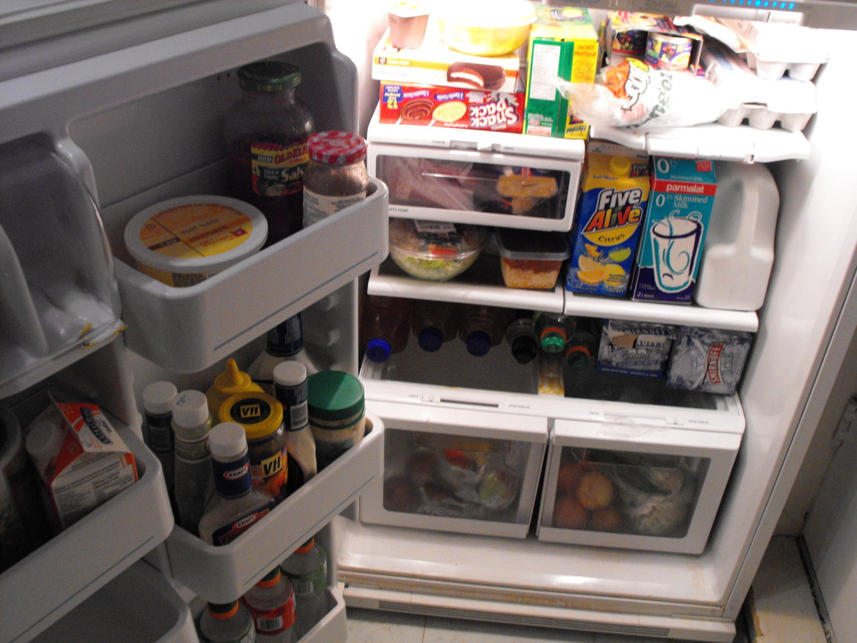 Clean out the fridge and get rid of expired foods.
