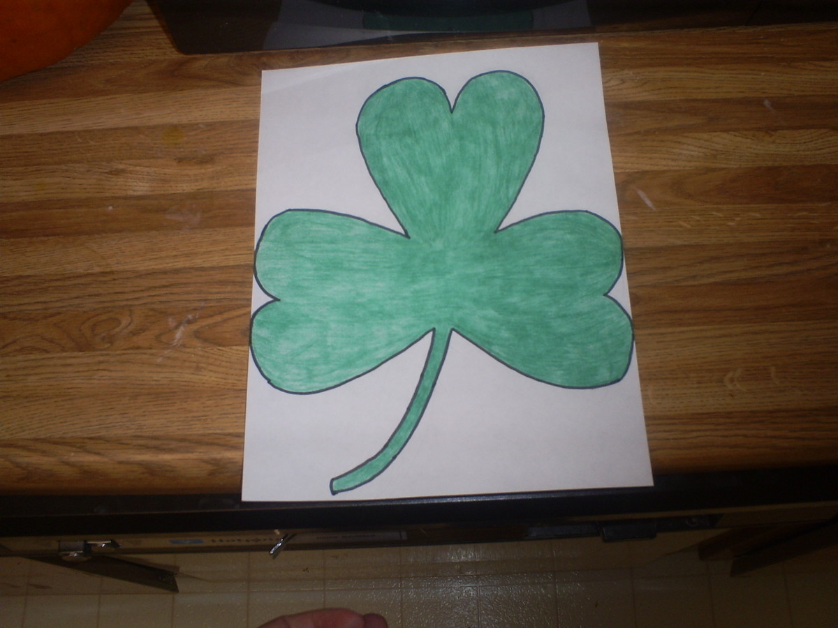 Cut out the shamrock.