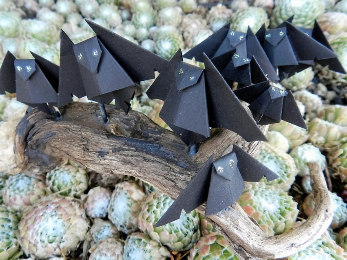 Paper bat sculpture