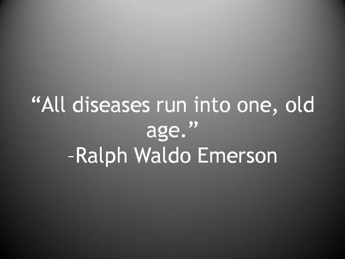 """All diseases run into one, old age."""